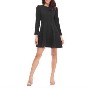 GAL MEETS GLAM   Celeste Fit & Flare Black Dress